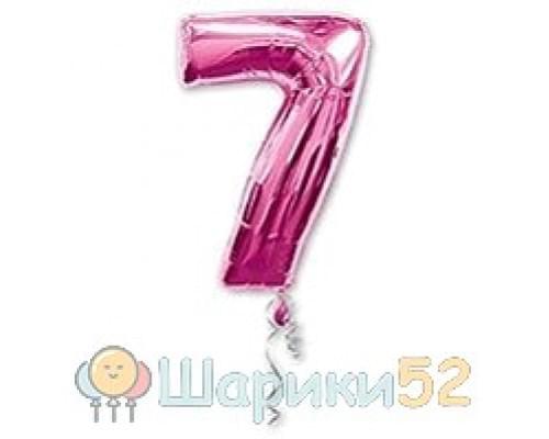 Шар фигура Цифра 7 Розовая