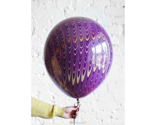 Шар Фиолетовый мраморный