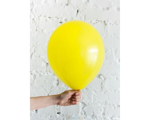 Шар жёлтый матовый