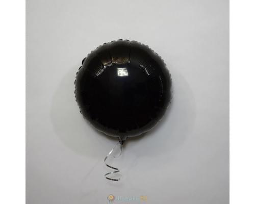 "Шар круг 18"" металлик Черное"
