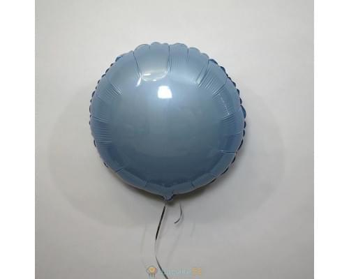 """Шар круг 18"""" металлик Голубое"""
