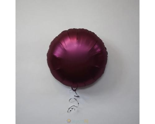 """Шар круг 18"""" Сатин Pomegranate"""