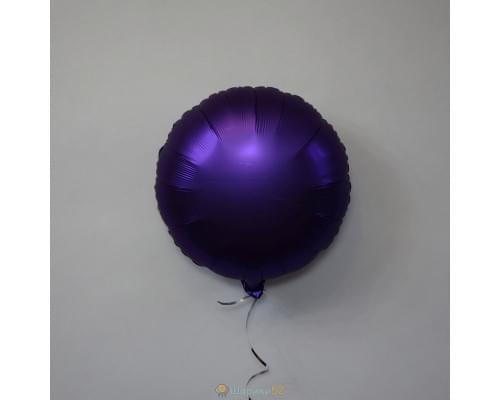 "Шар круг 18"" Сатин Purple Roayle"