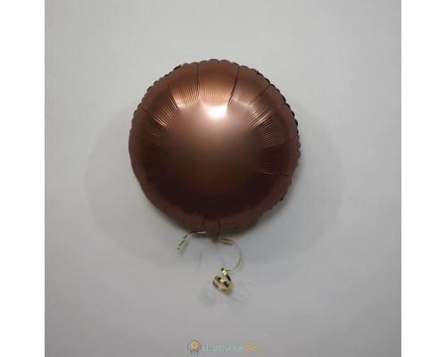 """Шар круг 18"""" Сатин Rose Copper"""