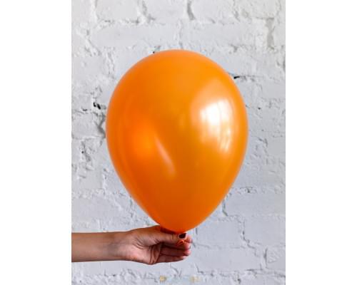 Шар оранжевый металлик