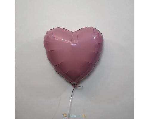 """Шар сердце 18"""" пастель Розовое"""