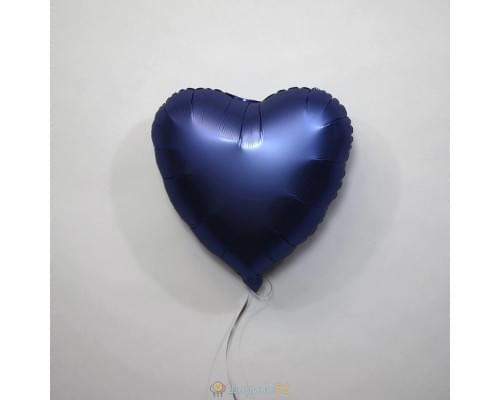 """Шар сердце 18"""" Сатин Azure"""