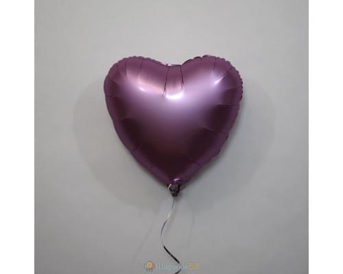 "Шар сердце 18"" Сатин Flamingo"
