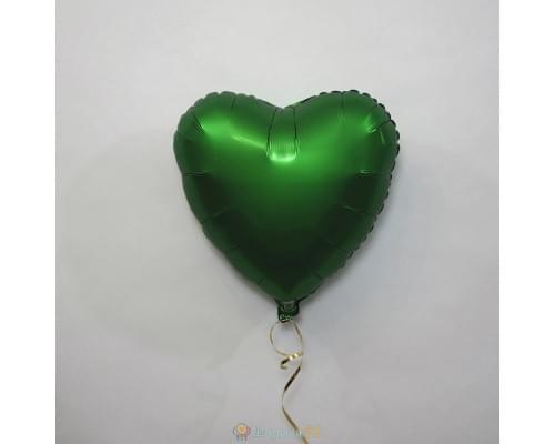 "Шар сердце 18"" Сатин Green"