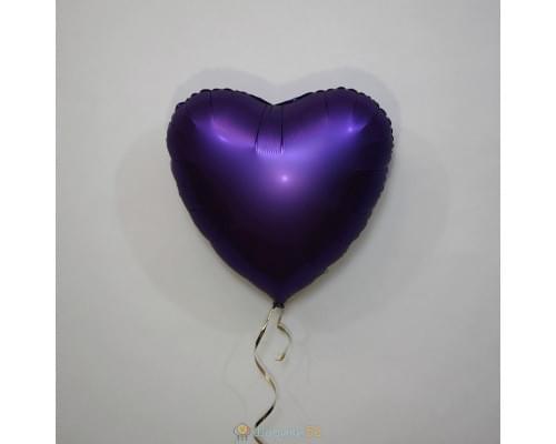 """Шар сердце 18"""" Сатин Purple Roayle"""