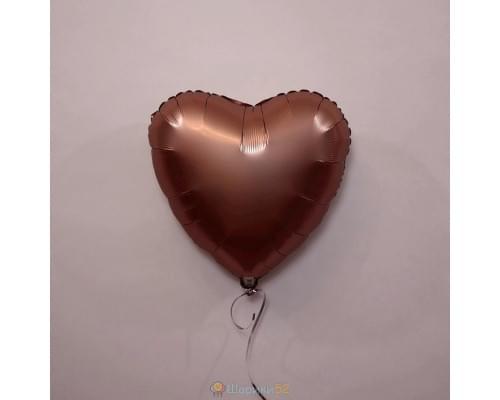 """Шар сердце 18"""" Сатин Rose Copper"""