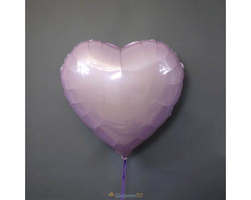 "Шар сердце 32"" металлик Розовое"