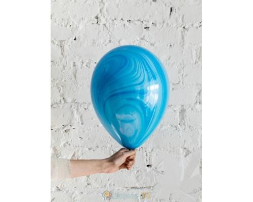 Шар Супер Агат Blue сине-голубой