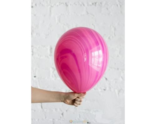 Шар Супер Агат Pink Violet розово-фиолетовый