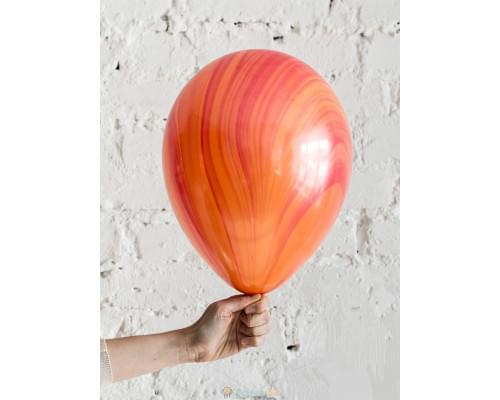 Шар Супер Агат Red Orange красно-оранжевый
