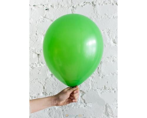 Шар ярко-зелёный матовый