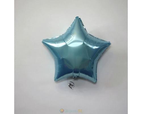 """Шар звезда 18"""" металлик Голубая"""
