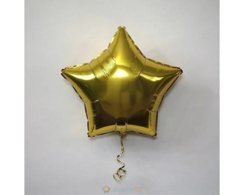 """Шар звезда 18"""" металлик Золото"""