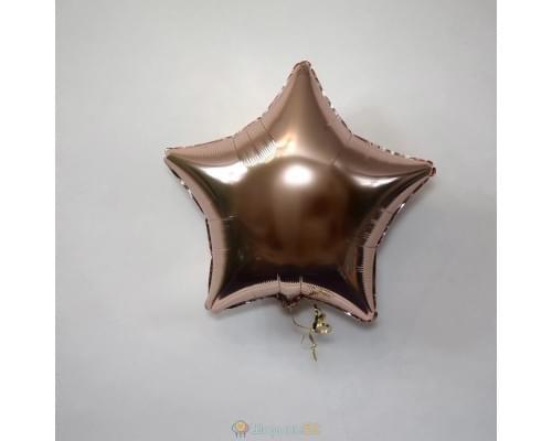 "Шар звезда 18"" металлик Розовое золото"