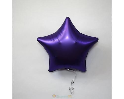 """Шар звезда 19"""" Сатин Purple Royale"""