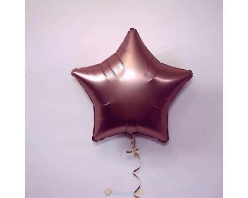 "Шар звезда 19"" Сатин Rose Copper"