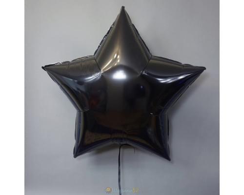 "Шар Звезда 36"" металлик Черная"