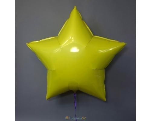 """Шар Звезда 36"""" металлик Желтая"""
