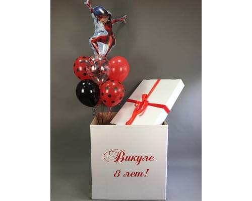 Коробка-сюрприз девочке в стиле Леди Баг