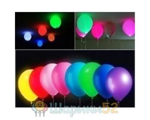 Светящиеся шарики ассорти 25 шт(постоянная подсветка)