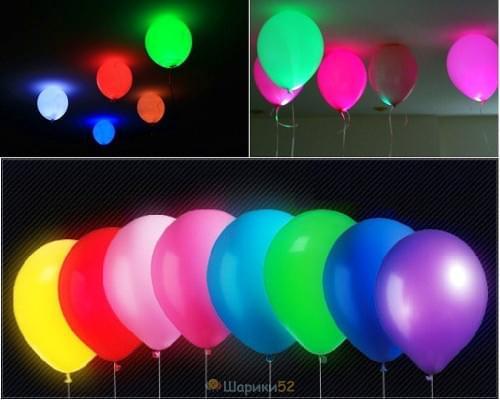 Светящиеся шарики ассорти 100 шт(постоянная подсветка)