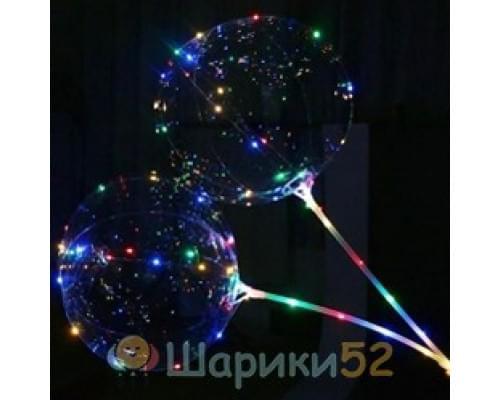 Светящиеся Шары Bubble (Баблс-Бобо) со светящей лентой на палочке