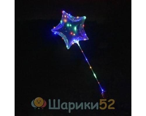 Светящиеся Шары Bubble (Баблс-Бобо) Звезда со светящей лентой на палочке