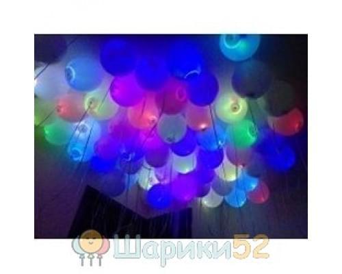 Светящиеся шары Белые А 50 шт(мигающий)