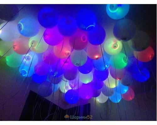 Светящиеся шары Белые А 100 шт(мигающий)
